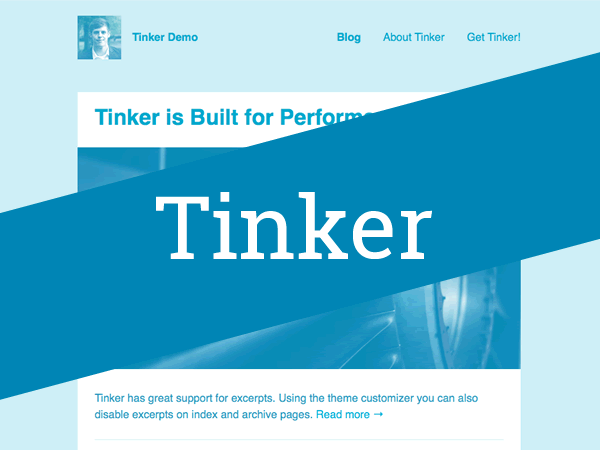 Screenshot of the Tinker WordPress theme